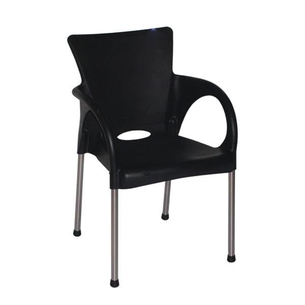 kursi tangan imperial hitam polos